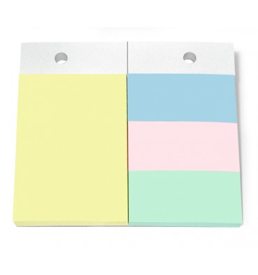 JPC Recharge 4 blocs pour support format A6. 1 bloc 102 x 75 mm + 3 blocs 34 x 75 mm. Couleurs pastels