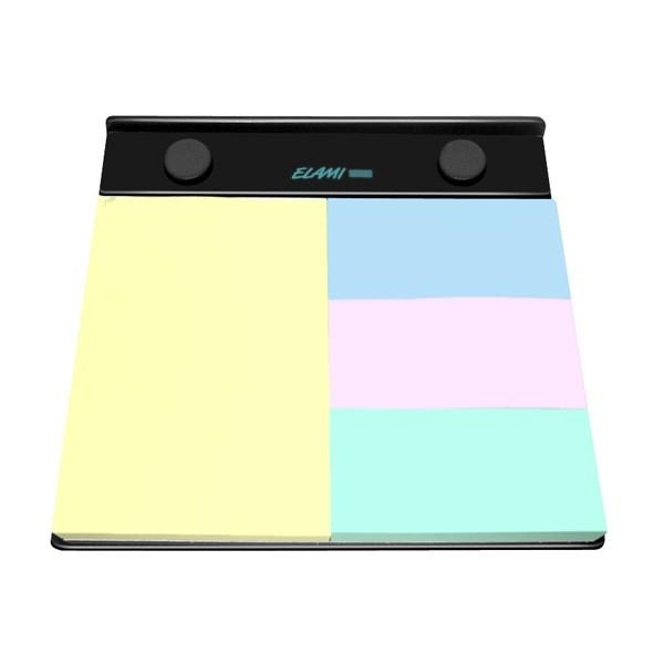 JPC Support rechargeable format A6. 1 bloc 102 x 75mm + 3 blocs 34 x 75 mm. Blocs couleurs pastels