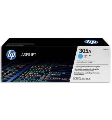 HP Cartouche toner laser cyan 305A - CE411A