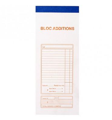 EXACOMPTA Bloc addition 50 feuillets 91 x 225 mm 50/2 autocopiant avec numérotation