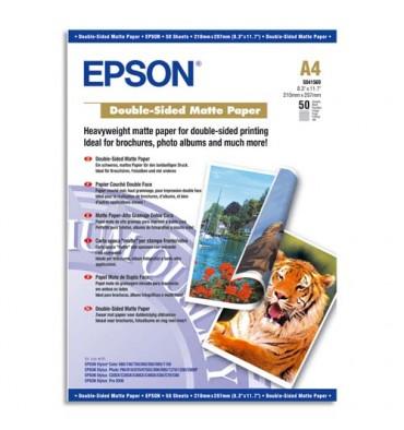 EPSON Boîte de 50 feuilles papier photo mat double face A4 178g