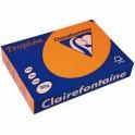 CLAIREFONTAINE Ramette de 500 feuilles papier couleur TROPHEE 80g A3 orange vif
