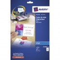 AVERY Pochette de 200 cartes de visite 8,5 x 5,4 cm Quick & Clean jet d'encre photo brillant 240g