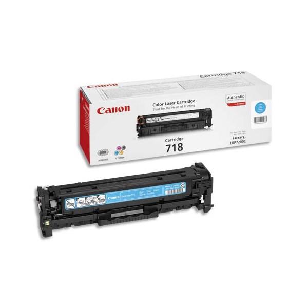 CANON Cartouche toner laser Cyan CRG718