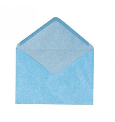 GPV Boîte de 500 enveloppes coloris bleu gommées 72g format 114 x 162 mm C6