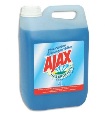 AJAX Bidon de produit nettoyant pour vitres et surfaces, 5 litres