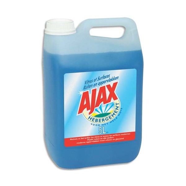 AJAX Bidon de produit nettoyant pour vitres et surfaces, 5 litres (photo)