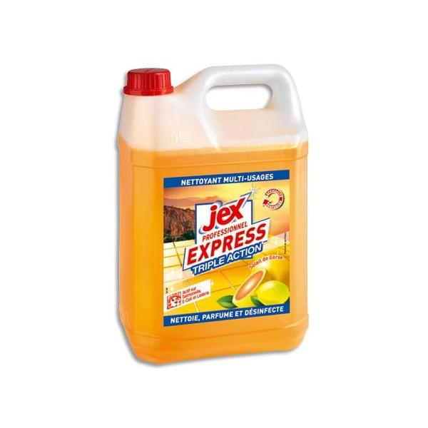 JEX Professionnel Bidon de 5 litres désinfectant triple action multi-surfaces Soleil de Corse