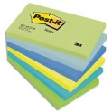 POST-IT Lot de 6 blocs repositionnables coloris reveuse dimensions 76x127 mm