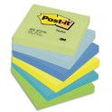 POST-IT Lot de 6 blocs repositionnables coloris reveuse dimensions 76x76 mm