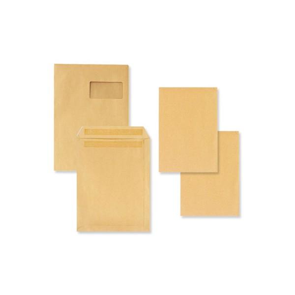 5 ETOILES Boîte de 250 pochettes kraft brun autocollant 90g format 229 x 324 mm C4