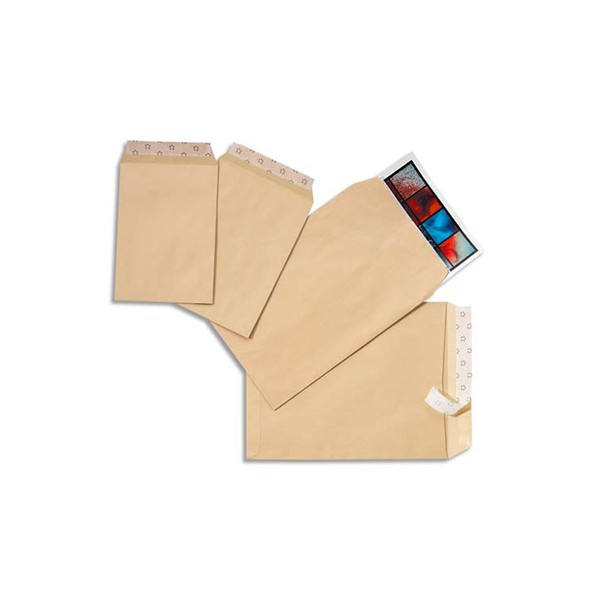 5 ETOILES Boîte de 500 pochettes kraft auto-adhésives 90g format 162 x 229 mm C5 (photo)