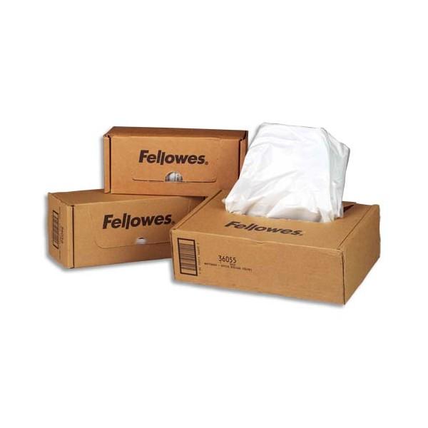 FELLOWES Boîte de 50 sacs de destructeurs 94 litres - Pour modèles 90/125/225/325/1250/2250