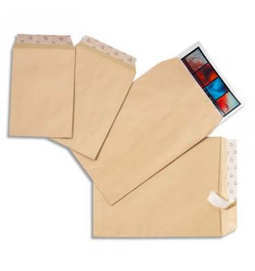 5 ETOILES Boîte de 250 pochettes kraft auto-adhésives 90g format 229 x 324 mm avec fenêtre 50 x 100 mm