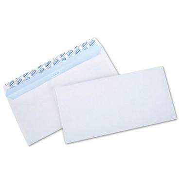 NEUTRE Boîte de 500 enveloppes blanches auto-adhésives 80g format DL 110 x 220 mm