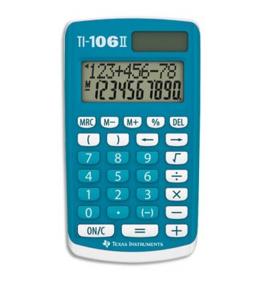 TEXAS INSTRUMENTS Calculatrice Primaire TI-106 S, coloris bleu