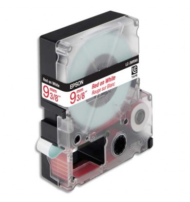 EPSON Ruban pour LabelWorks Rouge / Blanc 9 mm x 9 m - LK-3WRN