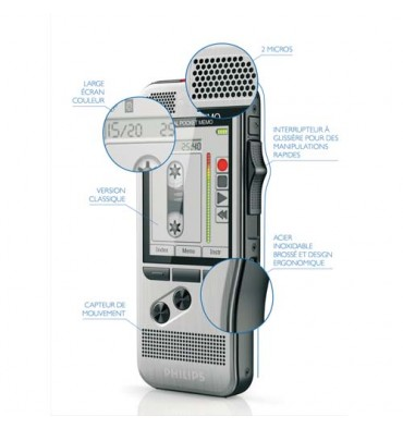 PHILIPS Enregistreur numérique Pocket-Mémo DPM7200/00