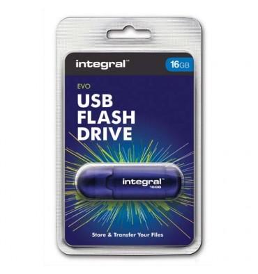 INTEGRAL Clé USB EVO 16Go INFD16BEVOBL + redevance