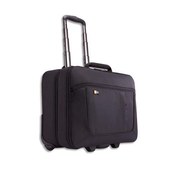 CASE LOGIC Trolley en nylon pour PC de 14 à 17,3'' + compartiment vêtements - noir