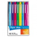 PAPERMATE Pochette de 16 stylos feutre nylon flair coloris assortis