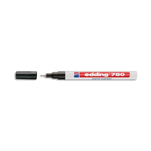 EDDING Marqueur peinture E780 laquée noire, pointe extra fine