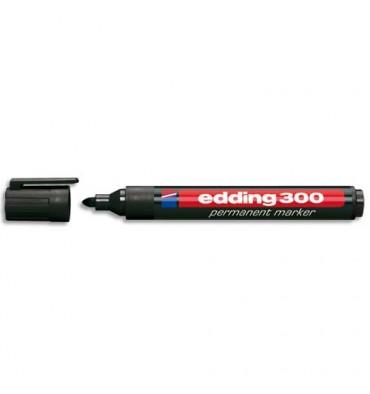 EDDING Marqueur Edding 300 permanent, corps plastique, pointe ogive - coloris noir