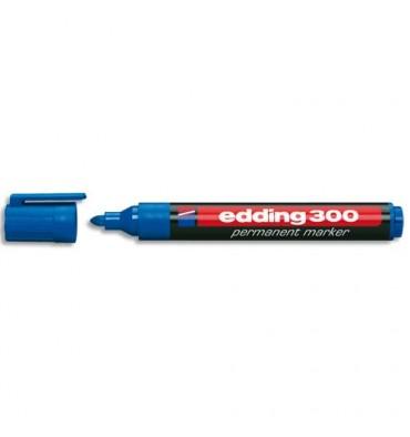 EDDING Marqueur Edding 300 permanent, corps plastique, pointe ogive - coloris bleu