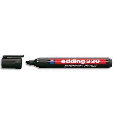 EDDING Marqueur Edding 330 permanent, corps plastique, pointe biseautée - coloris noir