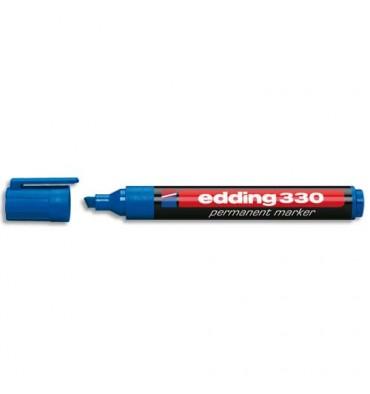 EDDING Marqueur Edding 330 permanent, corps plastique, pointe biseautée - coloris bleu