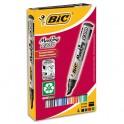 BIC Pochette de 4 marqueurs permanents assortis pointe biseautée encre à base d'alcool 2300