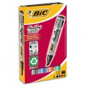 BIC Pochette de 4 marqueurs permanents pointe biseautée encre à base d'alcool 4 couleurs assorties 2300