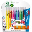 PAPERMATE BY REYNOLDS Pochette 12 feutres de coloriage Colors for Teens. Pointe moyenne. Coloris assortis