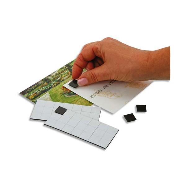 WONDAY Sachet de 49 carrés magnétiques adhésifs de 1,5 cm, force 80g/cm2