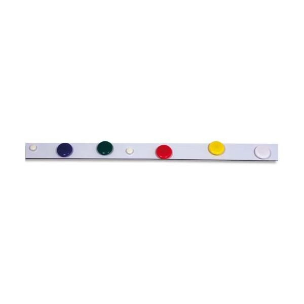 PAVO Boîte de 10 bandes métalliques adhésives blanches de 50 x 3 cm