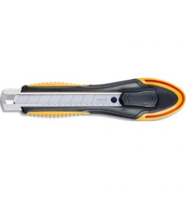 MAPED Cutter ULTIMATE pour droitier - lame 18 mm - Blocage de la lame - Casse lame intégrée