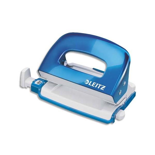 LEITZ Mini perforateur WOW 2 trous, coloris bleu, capacité 10 feuilles
