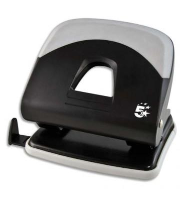 5 ETOILES Perforateur 2 trous, coloris noir avec grip confort gris, capacité 30 feuilles
