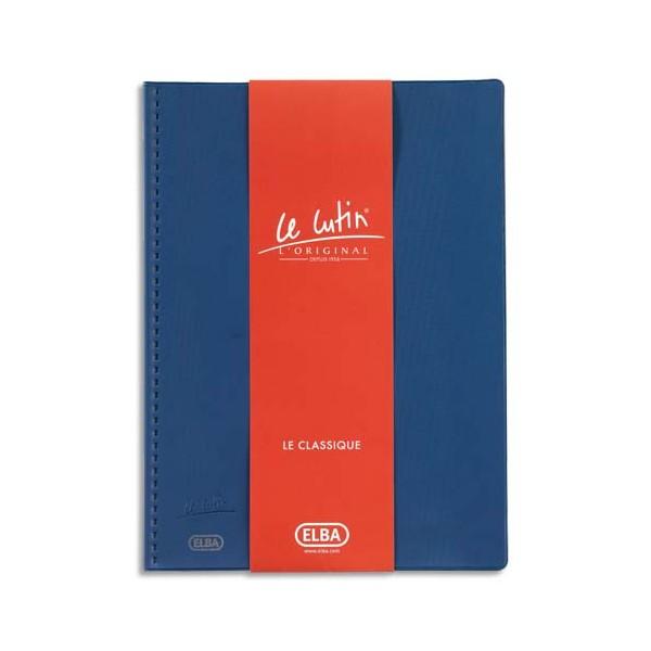OXFORD Protège-documents Le Lutin avec poche de rangement, 20 vues, 10 pochettes, coloris bleu