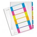 LEITZ Intercalaires numérique imprimables WOW 6 touches, format A4+, en polypropylène translucide assortis