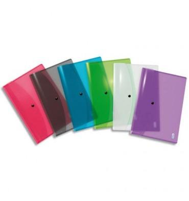 ELBA Chemises enveloppes HAWAI, en polypropylène 25/100ème, format A4, coloris translucides assortis