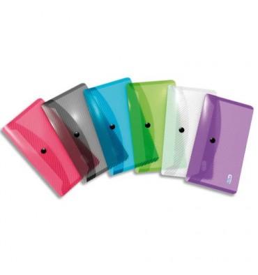 ELBA Chemises enveloppes HAWAI, en polypropylène 25/100ème, format DL, coloris translucides assortis