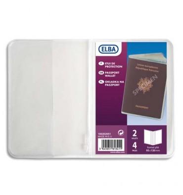 ELBA Etui pour passeport, 9,5 x 13 cm, PVC 30/100eme