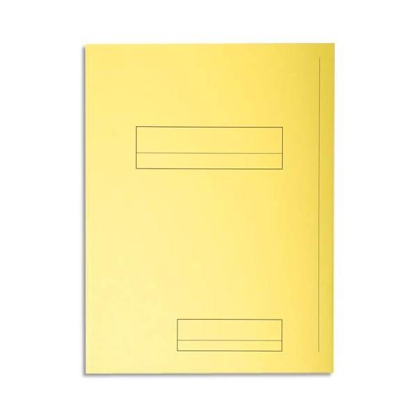 EXACOMPTA Paquet de 50 chemises 2 rabats SUPER 250 en carte 210g, coloris jaune