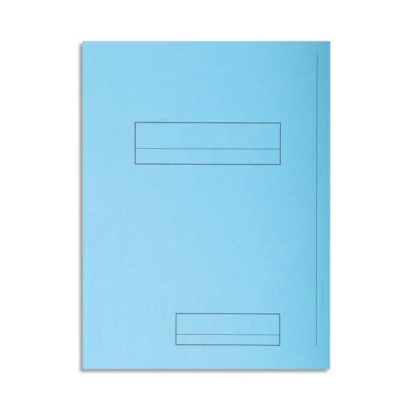 EXACOMPTA Paquet de 50 chemises 2 rabats SUPER 250 en carte 210g, coloris bleu ciel