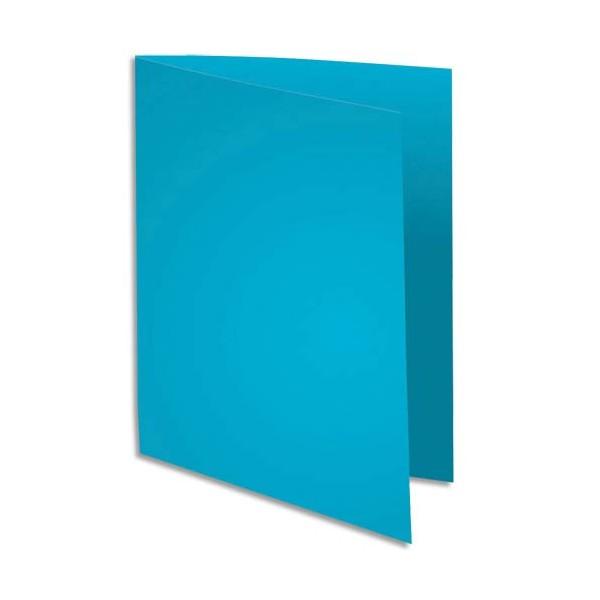 EXACOMPTA Paquet de 100 chemises Super 180 en carte 160g bleu clair