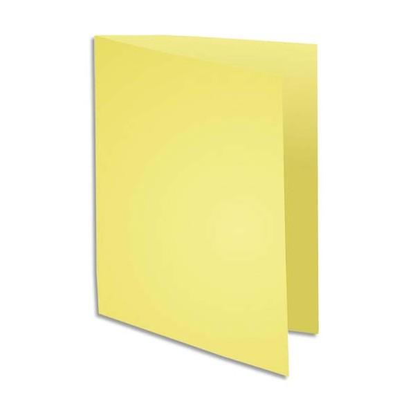 EXACOMPTA Paquet de 100 chemises Super 180 en carte 160g jaune