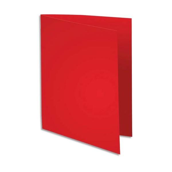 EXACOMPTA Paquet de 100 chemises Super 180 en carte 160g rouge