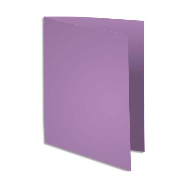 EXACOMPTA Paquet de 100 chemises Super 250 en carte 210 g, coloris lilas