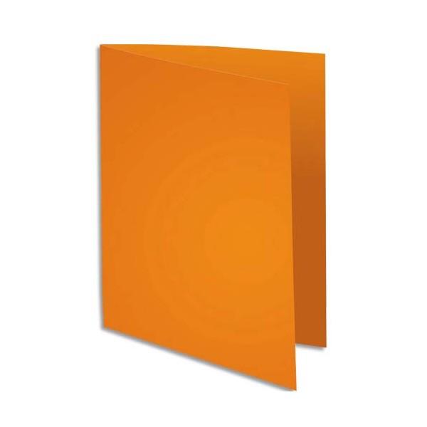 EXACOMPTA Paquet de 100 chemises Super 250 en carte 210 g, coloris orange